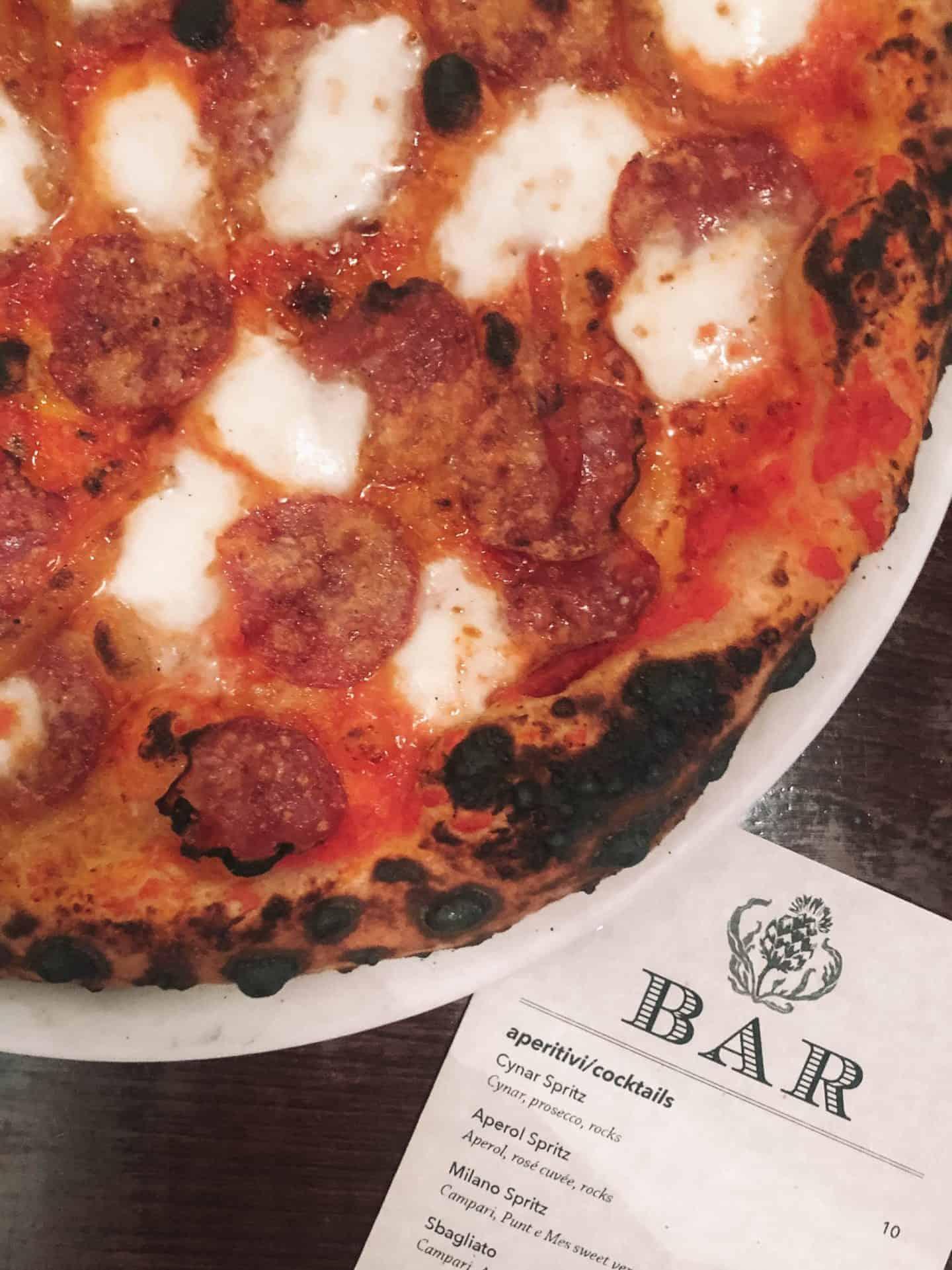 pepperoni pizza from bar del corso