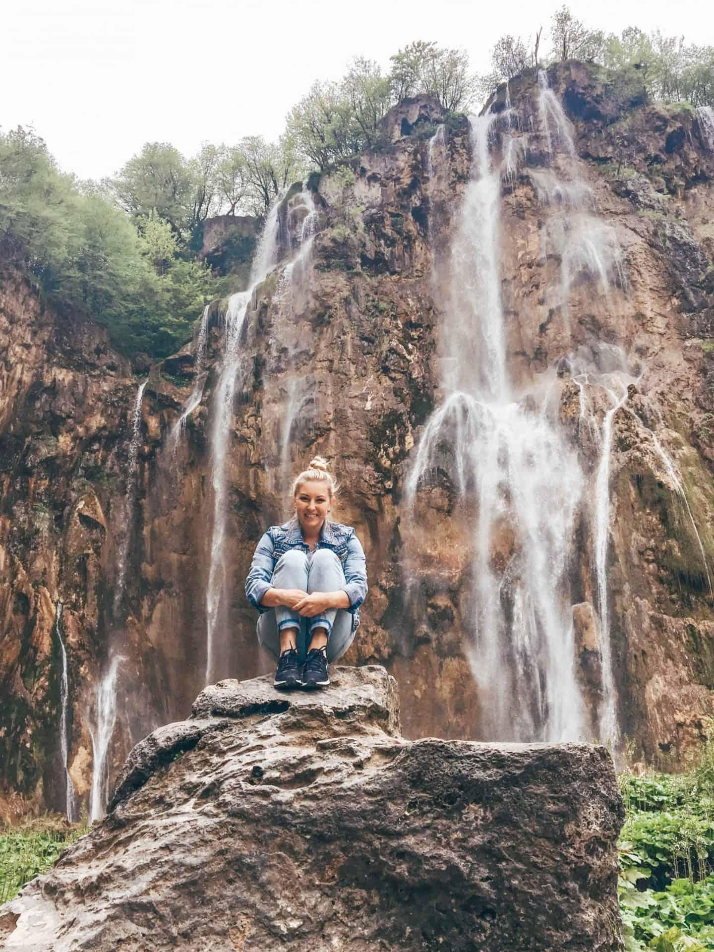 huge waterfall in croatia