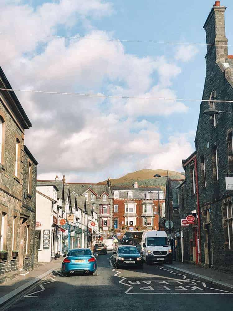 the streets of keswick, cumbria