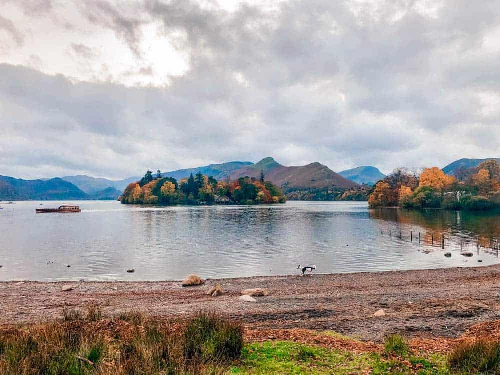 fall hues on derwenterwater lake