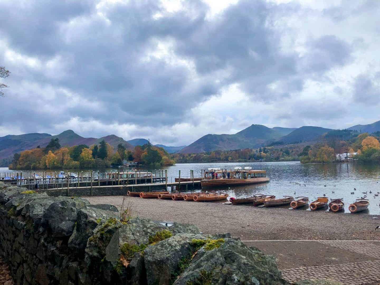 boats on Keswick Lake