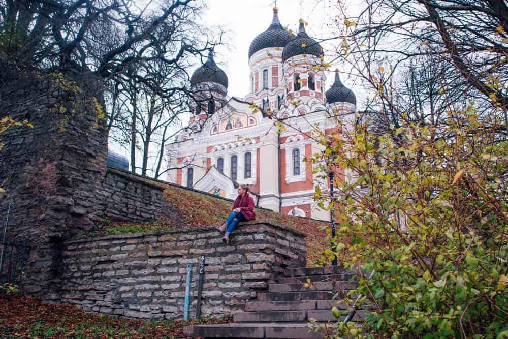 pink, alexander nevsky cathedral
