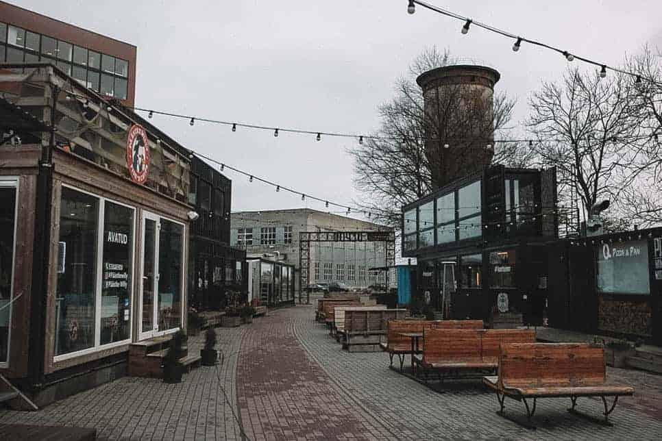 dreary street in telliskivi