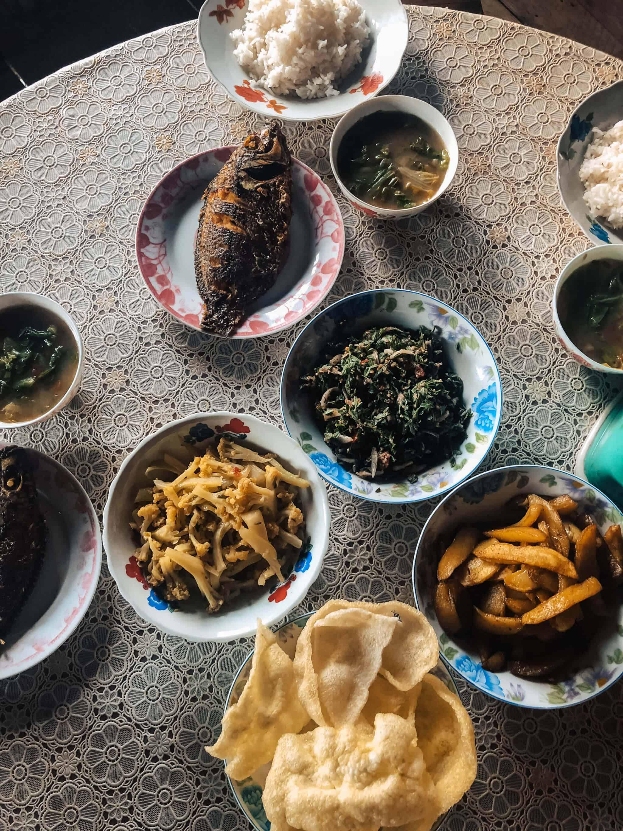 Typical Myanmar food