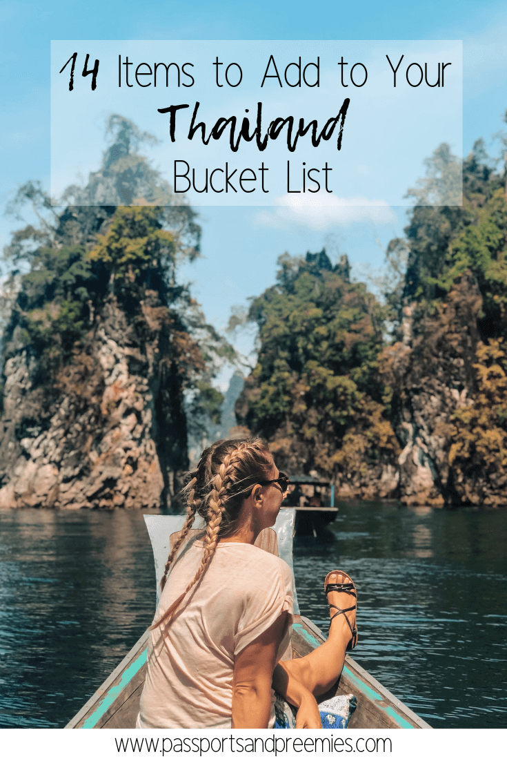 Pin Me - 14 items to add to your thailand bucket list