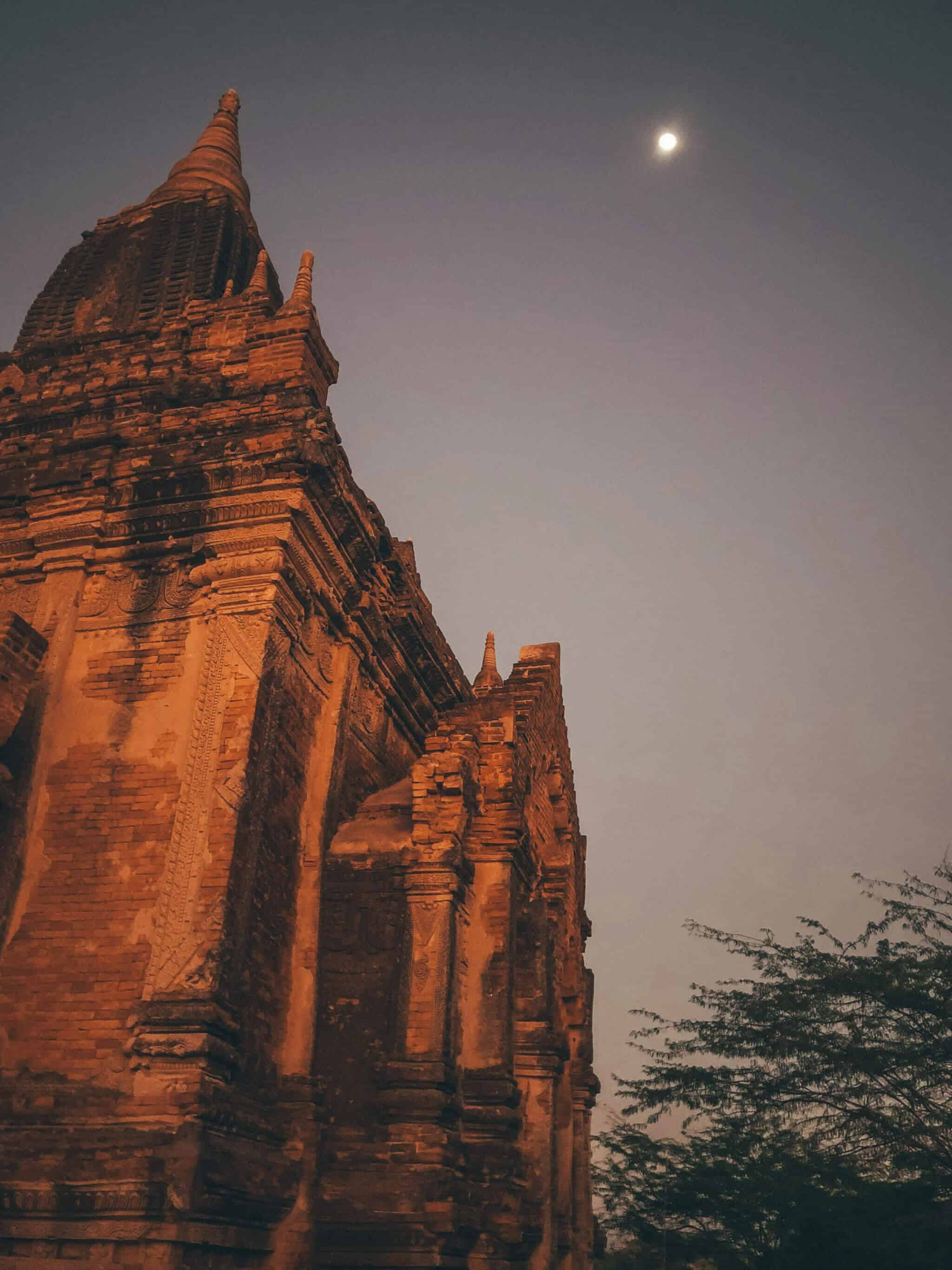Moonlight in Bagan