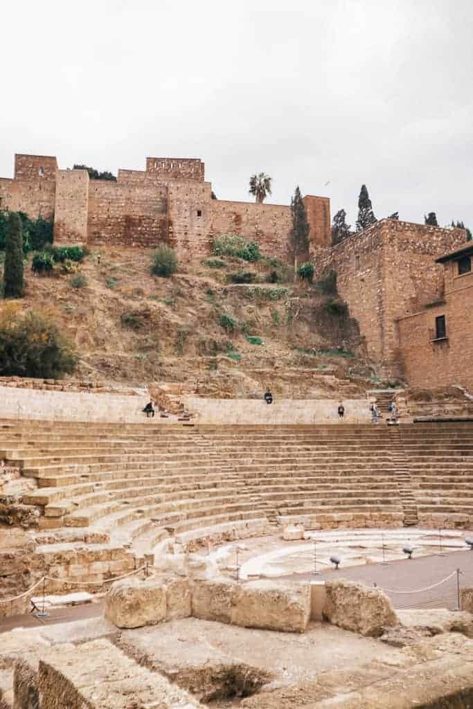 the old fortress, alcazaba in malaga