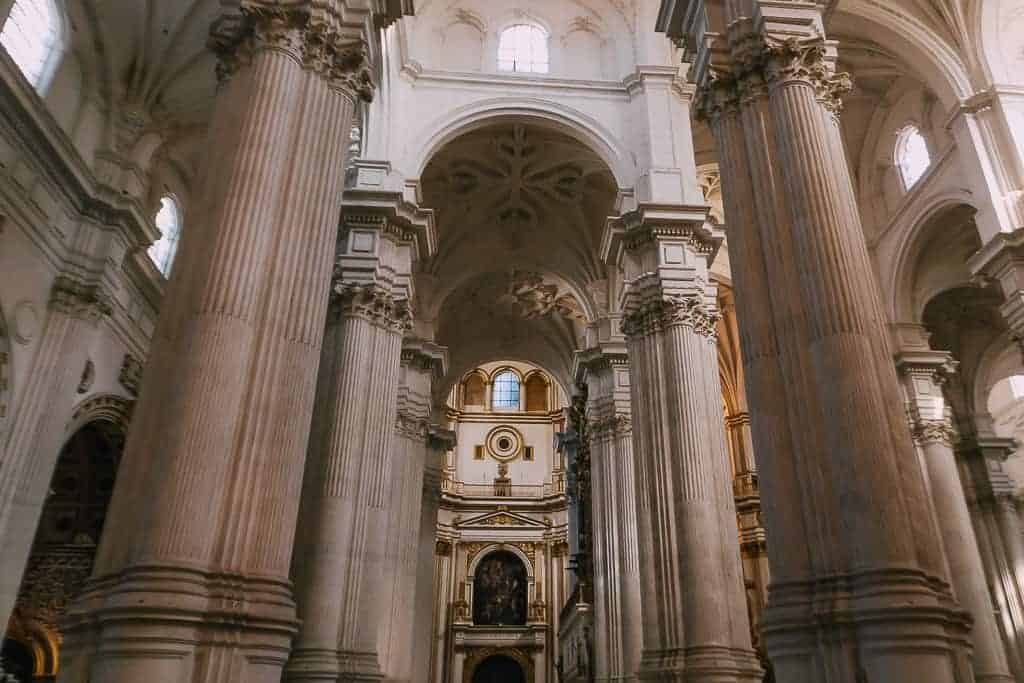 the majestic royal chapel of granada from the inside