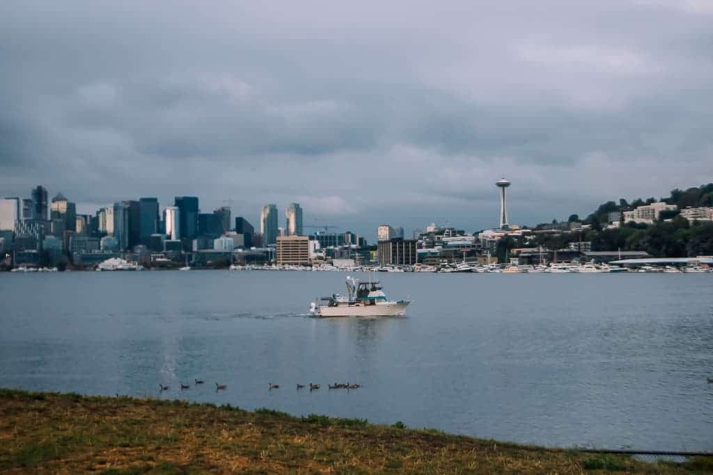 boat out on south lake union