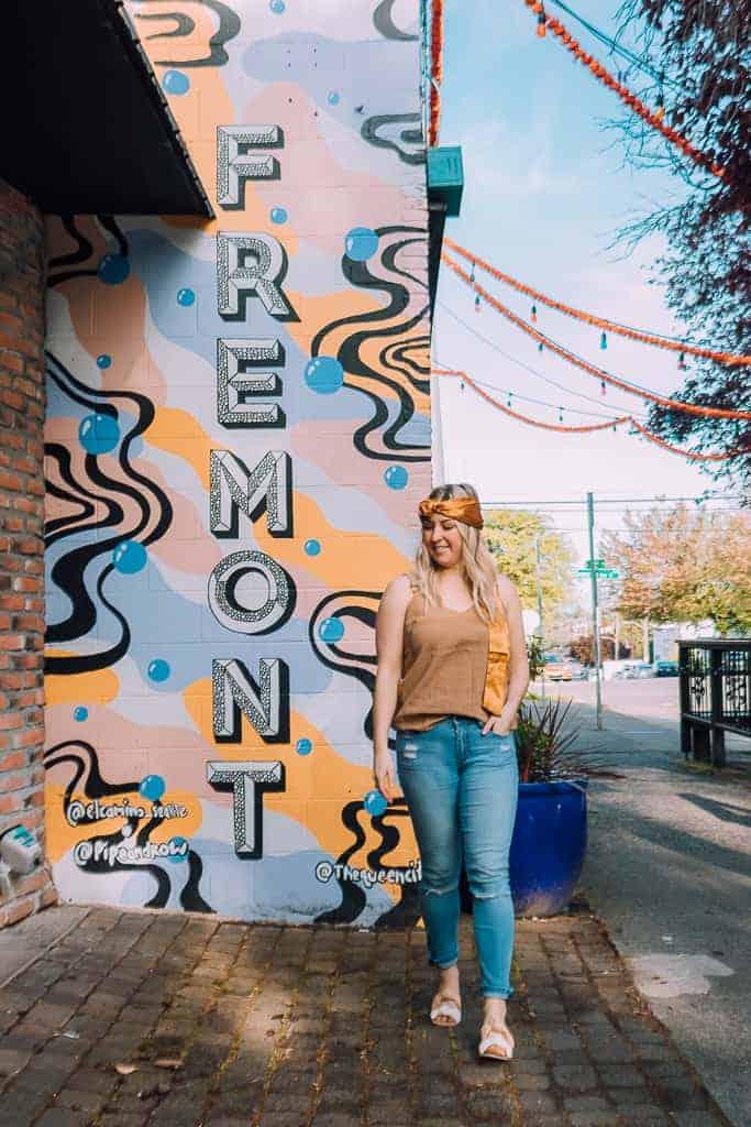 the neighborhood of fremont, seattle wall art