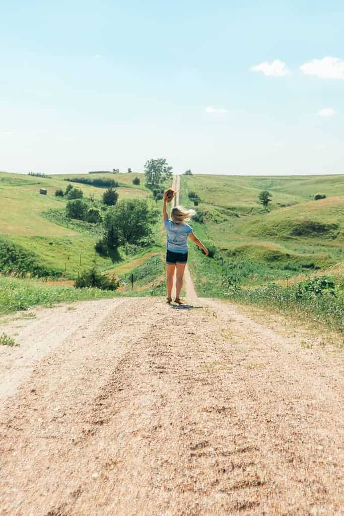 dancing in the middle of a dirt road