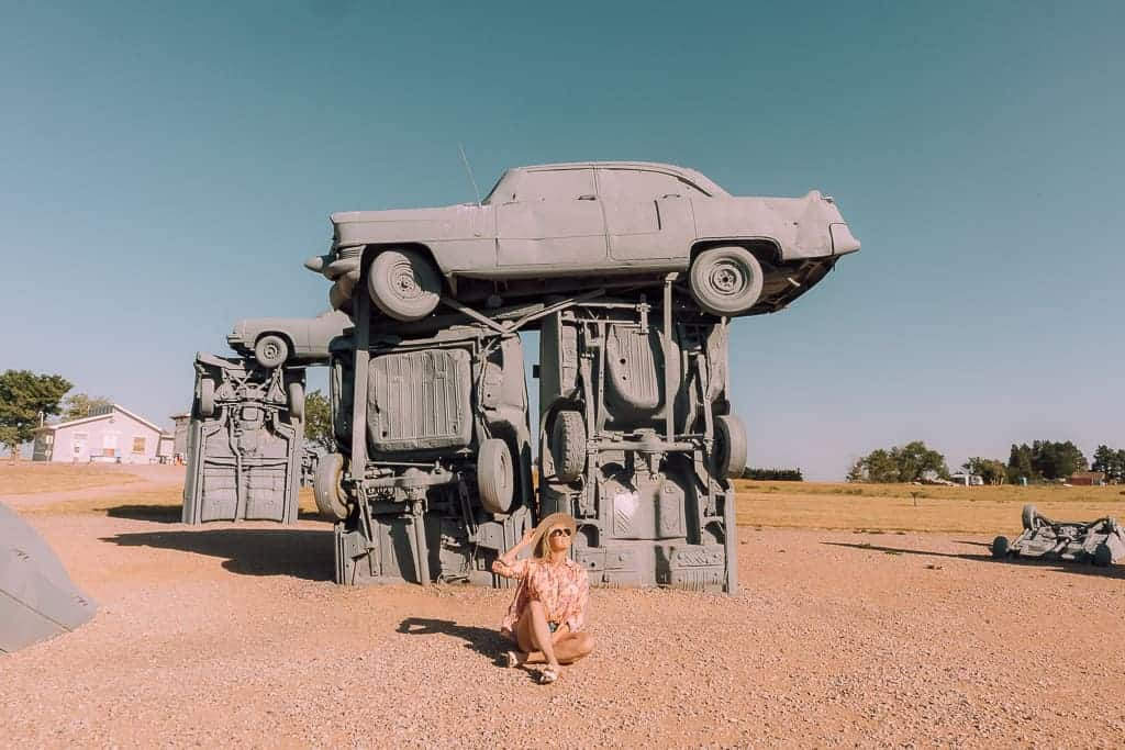 Carhenge in Alliance, NE - cars set up to resemble stonehenge in England