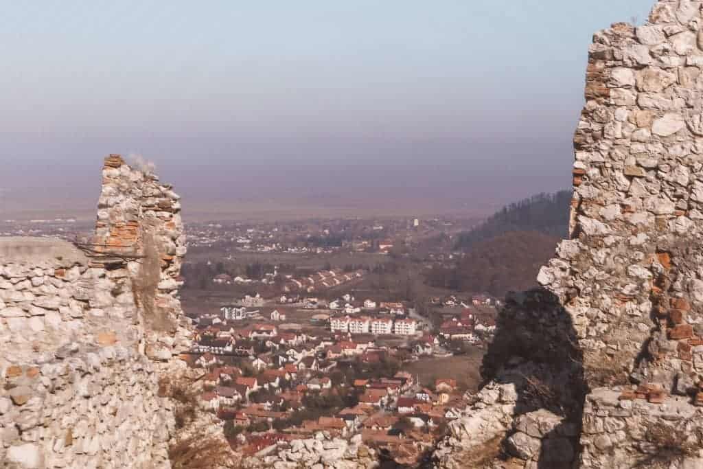 views of Romania from a fortress on a hill