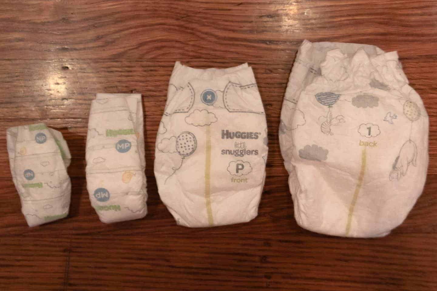 different sized diapers