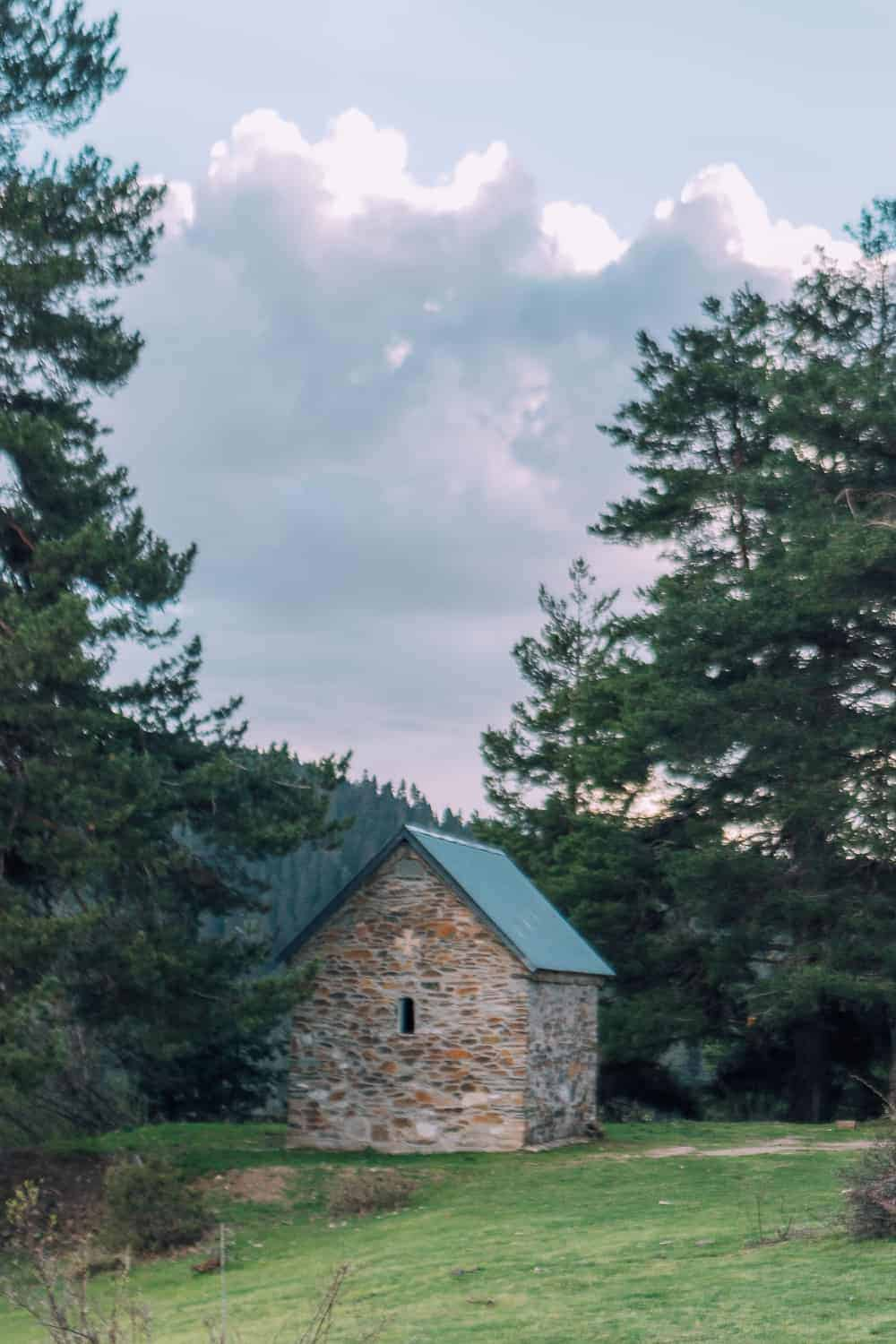 church in the middle of the mountains