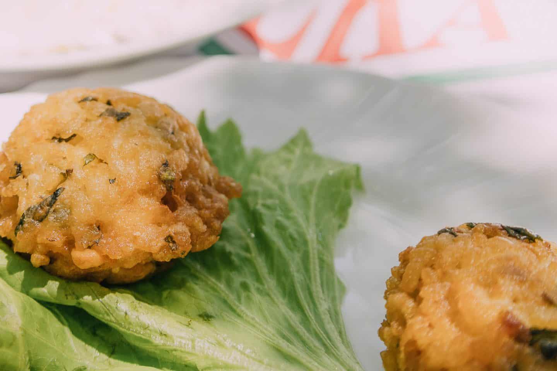 fried rice balls